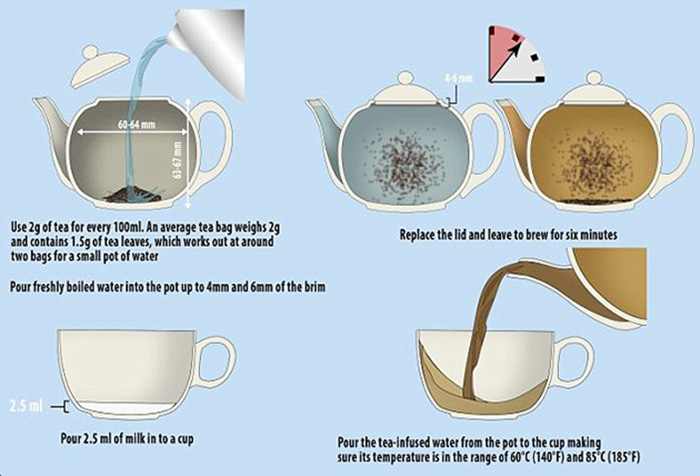 Step-by-step Making Tea Camillestea