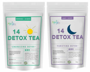 Tea Detox and Weight Loss Tea Combo by Afterglow - Camilestea